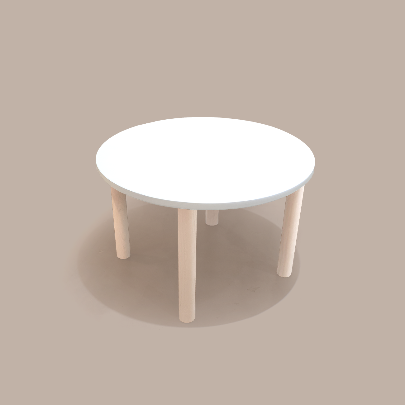 round table_ivory/natural