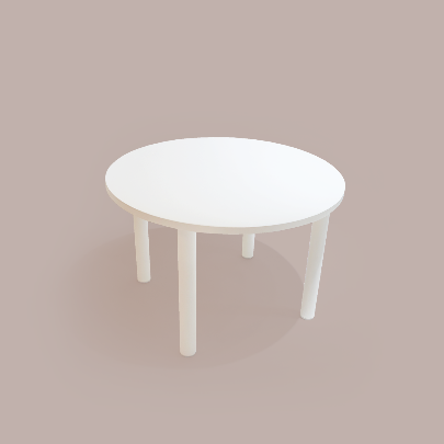 round table_ivory